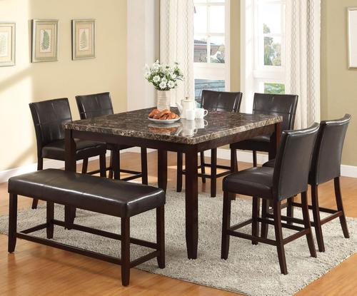 Idris 8 Piece Counter Height Dining Set With Bench