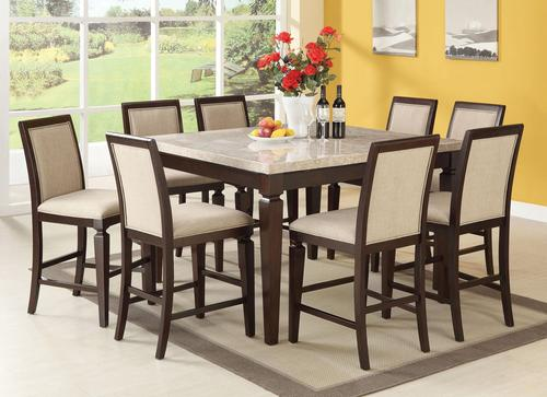 Agatha Nine Piece Counter Height Table And Stool Dining Set