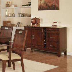 Donavan Transitional Dining Server W/ Wine Bottle Storage