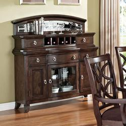 Keenan Transitional Dining Server with Wine Rack