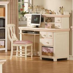 Crowley Traditional Youth Computer Desk with Keyboard Drawer and Hutch