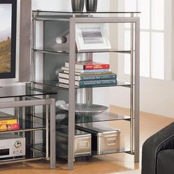 Altra TV Stand Bookcase Rack with Glass Top Shelves