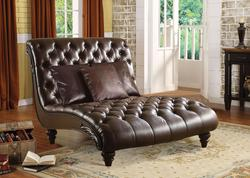 Anondale Traditional Tufted Chaise Lounge W/3 Pillows