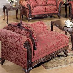 Fairfax Magenta Traditional Chaise