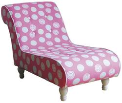 Candy Pink Youth Chaise w/ Wood Legs