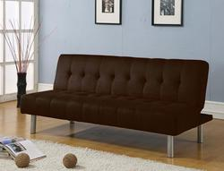Trenton Chocolate Microfiber Adjustable Sofa