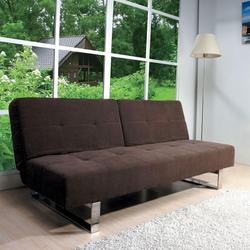 Shanie Contemporary Dark Brown Adjustable Sofa
