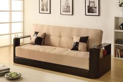 Jalen Contemporary Adjustable Sofa W/Cup Holders