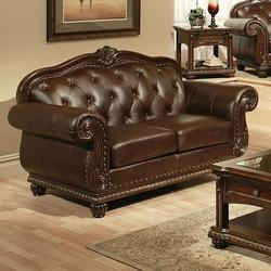 Anondale Traditional Cherry Top Grain L. Loveseat