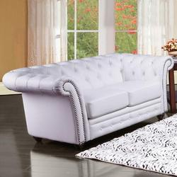 Camden Traditional Tufted Loveseat with Rolled Back and Nailhead Trim