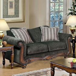 Olysseus Stationary Loveseat with Loose Pillow Back