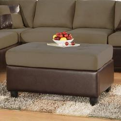 Sectionals Two-Toned Ottoman