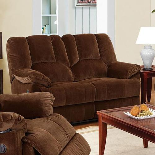 Acme furniture obert brown corduroy loveseat with power for Brown corduroy couch