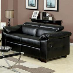 Darcel Bonded Leather Motion Loveseat with Pivot Headrest