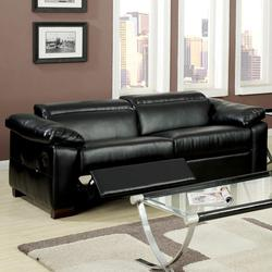 Darcel Bonded Leather Motion Sofa with Pivot Headrest