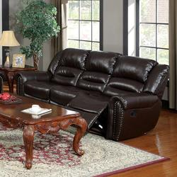 Ralph Brown Bonded Leather Reclining Sofa