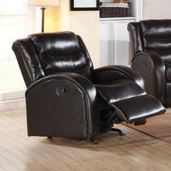 Noah Rocker Recliner with Rounded Track Arms and Plush Back