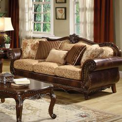 Remington Traditional Stationary Sofa W/5 Pillows