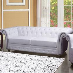 Camden Traditional Tufted Sofa with Rolled Back and Nailhead Trim
