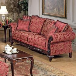Fairfax Magenta Traditional Stationary Sofa
