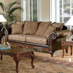 Fairfax Raisin Traditional Stationary Sofa