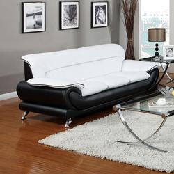Orel Stationary Sofa with Exposed Chrome Legs