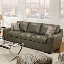 Morell Contemporary Bonded Leather Stationary Sofa
