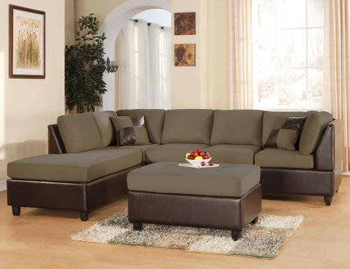 Acme Furniture Sectionals Easy Rider Two Toned Sectional Sofa