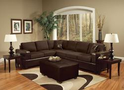 Madrid Contemporary Sectional Sofa W/Accent Pillows
