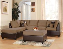 Lisbon Contemporary Two Piece Sectional Sofa in Saddle Fabric