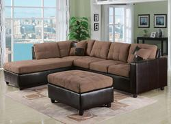 Milano Saddle Contemporary Two Piece Sectional Sofa with RAF Chaise
