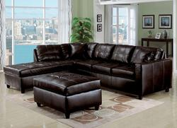 Milano Espresso Contemporary Two Piece Sectional Sofa with RAF Chaise