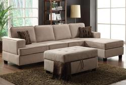 Lavenita Reversible Sectional Sofa W/Chaise and Accent Pillows