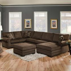 Tenner Transitional Three Piece Sectional Sofa with RAF Chaise
