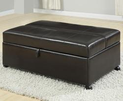 Cooper Espresso Ottoman withTwin Sleeper and Casters