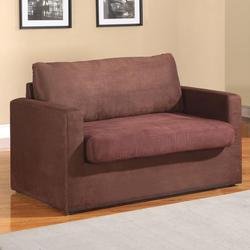 Craigg Contemporary Sofa with Track Arms and Twin Sleeper
