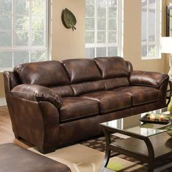Dax Bonded Leather Sleeper Sofa with Queen Size Mattress
