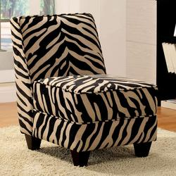 Makala Zebra Fabric Accent Chair