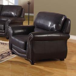 Maloney Traditional Bonded Leather Chair