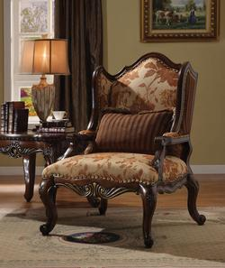 Remington Traditional Floral Chair W/1 Pillow