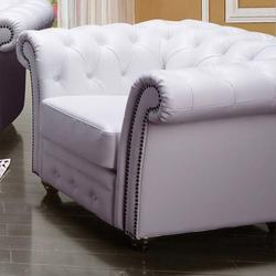 Camden Traditional Tufted Chair with Rolled Back and Nailhead Trim