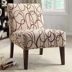Aberly Accent Chair in Abstract Geometric Print