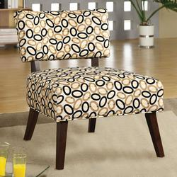 Able Armless Accent Chair with Geometric Print