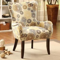 Gabir Accent Chair with Flare Tapered Arms