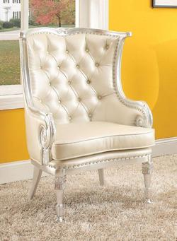 Pawnee Neo Classical Upholstered Accent Chair