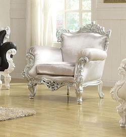 Nels Neo Classical Upholstered Accent Chair