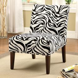 Aberly Accent Chair in Zebra Print