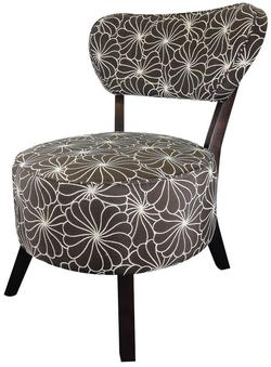 Xeni Accent Chair with Fabric Floral Pattern Seat