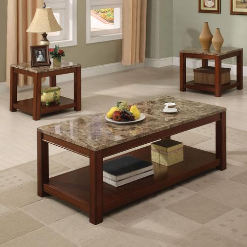 Acme Furniture Bologna Three Piece Coffee And End Table