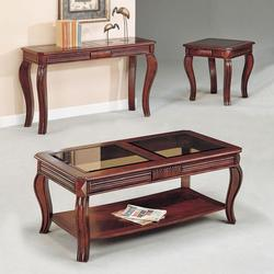 Overture 3-Piece Transitional Coffee and End Table Set